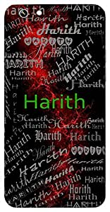 Harith (Green Colour) Name & Sign Printed All over customize & Personalized!! Protective back cover for your Smart Phone : Samsung Galaxy A-5