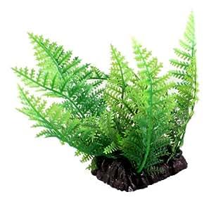 Aquarium Decoration 3.9Height Green Leaf Artificial Underwater Plant