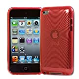 4G Touch Red Gel Silicone Protective Armour Case + Screen Protector Kit for New Apple Ipod Touch 4th Generation 8GB 32GB 64GB
