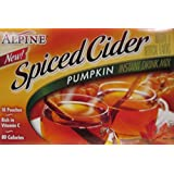 Alpine Pumpkin Spiced Instant Cider Drink Mix (Pack of 3) 10 Count Boxes