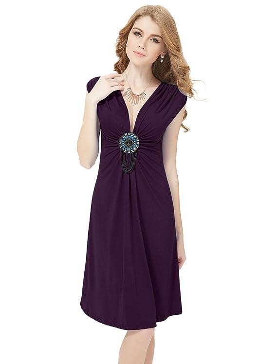 Ever Pretty Ornamental V-neck Exquisite Flirty Short Cocktail Dress 03280