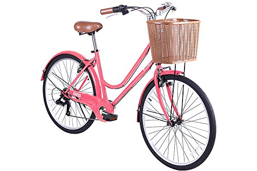 Gama Bikes Women's City Basic Step-Thru 6 Speed Shimano Hybrid Urban Cruiser Commuter Road Bicycle, 26-inch wheels 1