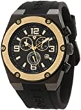 Swiss Legend Mens 30025-BB-01-GB Throttle Chronograph Black Dial Watch