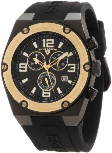 Swiss Legend Men's 30025-BB-01-GB Throttle Chronograph Black Dial Watch