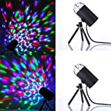 2PCS Masione⢠New Rotating LED RGB 3D Effect Stage Light For Disco, Ballroom, KTV, Bar, Stage, Club, Party etc