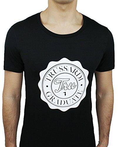 Maglia t-shirt uomo Trussardi 523062 nero cotone girocollo casual maniche corte (M)