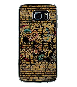 Fuson Premium Wall Art Metal Printed with Hard Plastic Back Case Cover for Samsung Galaxy S6 Edge Plus
