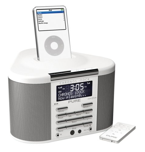 pure chronos idock digital clock dab fm radio works with ipod iphone 3gs 4. Black Bedroom Furniture Sets. Home Design Ideas