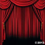 Red Curtain Backdrop Banner Decoration (2 pc)