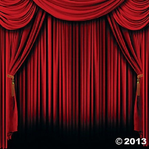 Buy Cheap Plastic Red Curtain Backdrop Banner (2 pc )