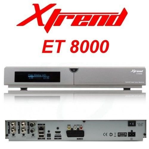 Xtrend ET 8000 HD 2x DVB-S2 1x DVB-C/T2 Tuner Linux Full HD HbbTV Receiver PVR Ready