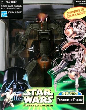 Star Wars Power Of The Jedi MEGA ACTION Destroyer Droid by Hasbro