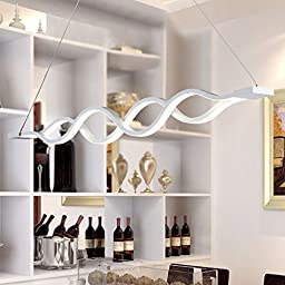 Winson Stylish design Elegant Vintage Style Pendant ceiling Light Shade Stylish Pendant LightsLed twist wavy chandeliers , two