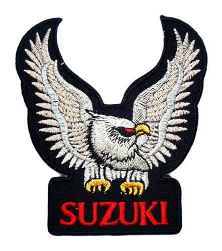 SUZUKI Eagle Motorcycles Bikes Cars Vintage Racing Accessories Jacket BS06 Patches 0