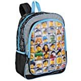 LEGO Mini Figures 3D Lenticular 16 Children's School Backpack