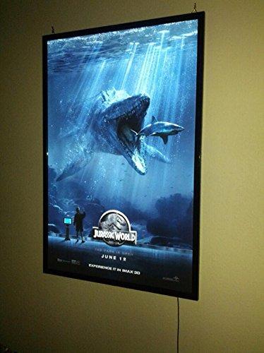 Black Aluminum Movie Cinema Theater Style Led Light Box