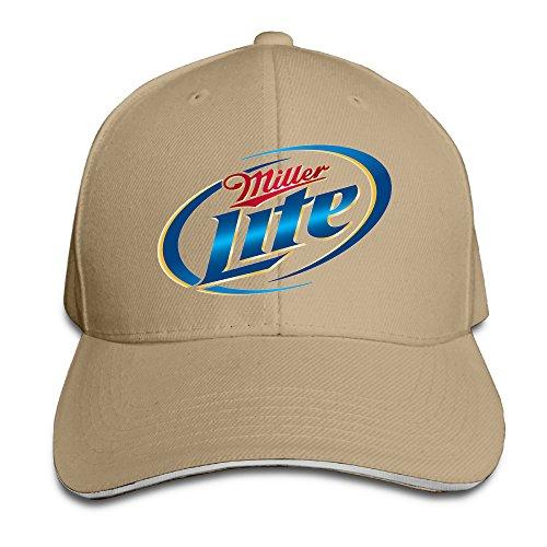 teenmax-unisex-miller-lite-logo-sandwich-peaked-baseball-cap