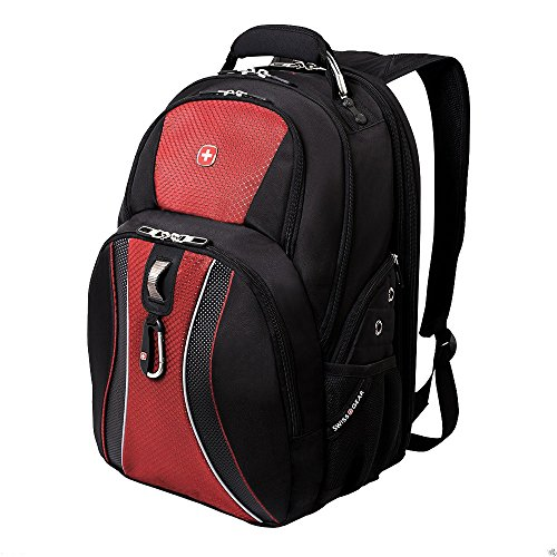 Green Ace Swissgear Scansmart 17'' Laptop / Notebook Backpack - Red