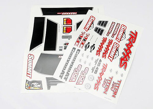 Traxxas Summit Decal Sheets