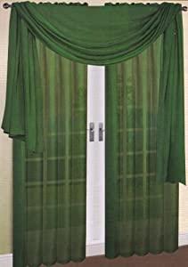 Hunter Green Curtains Window Treatments Kitchen Curtains Window Treat