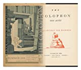 The Colophon, New Series - Summer 1935, Volume I, New Series, Number 1