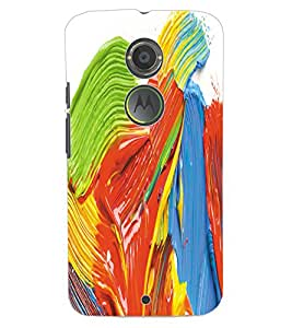 ColourCraft Colourful Design Back Case Cover for MOTOROLA MOTO X2