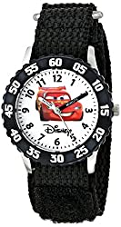 Disney Kids W000082 Cars Stainless Steel Time Teacher Watch