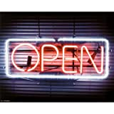 (16x20) Open (Neon Sign) Art Poster Print