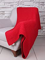 Bottega Tessile Plaid Rojo 130 x 170 cm
