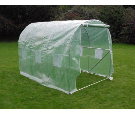 3M(L) x 2M(W) x 2M(H) Polytunnel Greenhouse Pollytunnel Poly Polly Tunnel Fully Galvanised Anti Rust Steel Frame