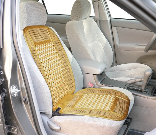 Wagan in9912 bead and rattan cool seat cover health beauty for Seat covers for cane furniture