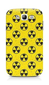 Amez designer printed 3d premium high quality back case cover for Samsung Grand Neo Plus (Pattern yellow radioactive)