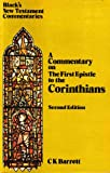 First Epistle to the Corinthians (Black's New Testament Commentaries)