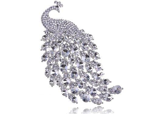 Clr Swarovski Crystal Rhinestone Peacock Fowl