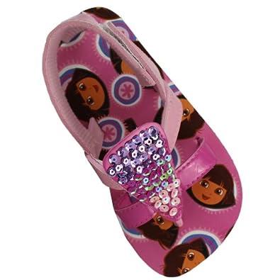 """Dora the Explorer """"Sparkle"""" Sequin Pink Toddler Girls Sandals Shoes 5/6-9/10 (5/6)"""