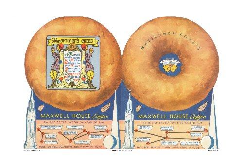 Mayflower Donuts Double Cover, 1939 New York & San Francisco World Fairs Vintage Menu Print 11
