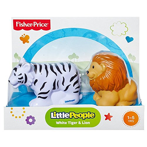 Fisher-Price Little People White Tiger & Lion - 1