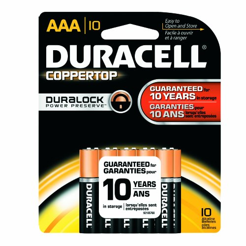 Duracell Mn2400B10Z Coppertop Alkaline-Manganese Dioxide Battery Saver Pack, Aaa Size, 1.5V (Case Of 40 Cards, 10 Unit Per Card)