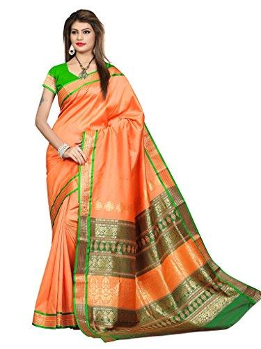Shobha Sarees Boomkai Mysore Silk Saree (Pink)