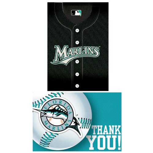 Florida Marlins Baseball - Invite & Thank-You Combo (8 each)