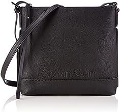 Calvin Klein Melissa Flat, Sac bandoulière - Noir (Black), Taille Unique