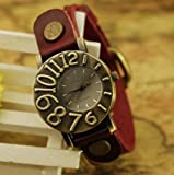 Retro Style Simple leather wrist watch,Handmade Womens Watch leather wrist watch 2189W