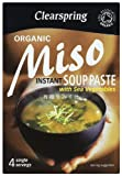 Clearspring Instant Organic Miso Veg Soup Paste 60 g (Pack of 4)