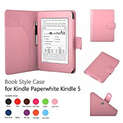 Elsse Premium Case For Amazon Kindle Paperwhite and All-New Kindle Paperwhite (Styli NOT included) (Support Smart Cover Function) (Paperwhite, Light Pink)