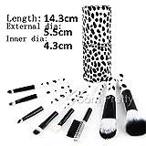 8Pcs/set Wooden Handle Brush Kit Soft Hair Cosmetic Brush Set # 23845(cow point)