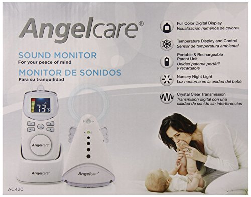 Angelcare Baby Sound Monitor, White front-383943