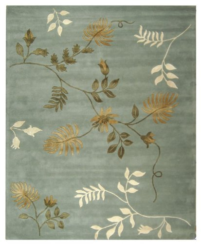 Safavieh Soho Collection SOH313A Handmade Light Blue New Zealand Wool Area Rug, 6-Feet by 9-Feet