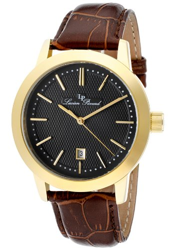 Lucien Piccard Men's 11572-YG-01 Tosa Black Textured Dial Watch