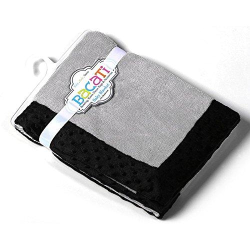 Bacati - Dots/pin Stripes Black/white Blanket