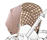 Poplico Reversible Canopies for Bugaboo Bee+ (Cinnamon/ Beige)